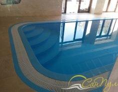 Переливной полипропиленовый бассейн 8х3м