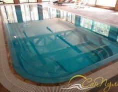 Композитный бассейн Ривьера с переливной системой фильтрации
