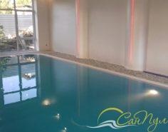бассейн из полипропилена 10х4м с переливной системой фильтрации