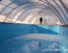 Павильон для бассейна зимой