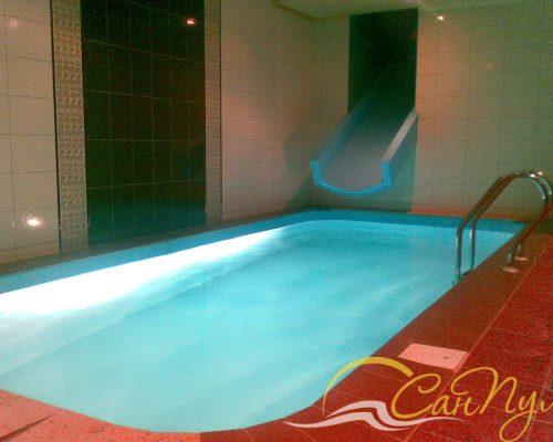 Полипропиленовый бассейн в бане