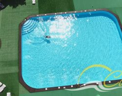 Бассейн из полипропилена 20х15м на турбазе