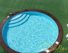 Бассейн из полипропилена диаметром 6м на турбазе