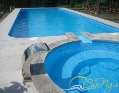 Полипропиленовый бассейн 10х4м с джакузи