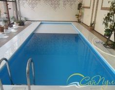 Полипропиленовый бассейн с жалюзийным покрытием