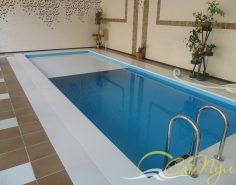 Полипропиленовый бассейн 8х3м с жалюзийным покрытием