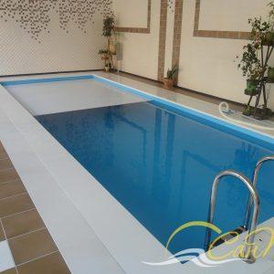 бассейн с жалюзийным покрытием
