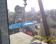 Подъем чаши бассейна в Центр Галереи Чижова