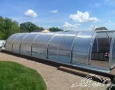 Телескопический павильон для бассейна