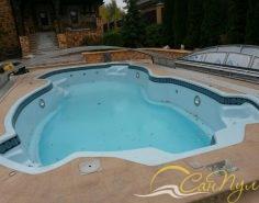 Фото композитного бассейна с павильоном