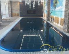 Переливной композитный бассейн фото