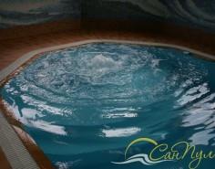 Система аэромассажа в бассейне