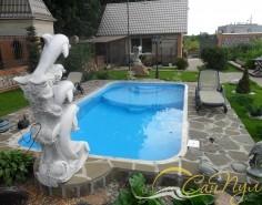 Строительство бассейна из полипропилена с детской зоной