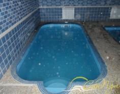 Пластиковый бассейн в бане