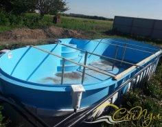 Этапы строительства бассейна из полипропилена