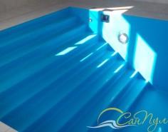 Лестница в пленочном бассейне