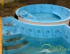 строительство бассейна с гидромассажем