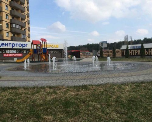 Пешеходный фонтан