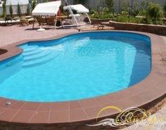 Полипропиленовый бассейн с римским входом