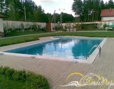 Монтаж бассейна 12х4м
