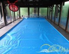 Бассейн из полипропилена 12х4х1,5м с плавающим покрывалом