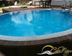 Фото круглой чаши бассейна
