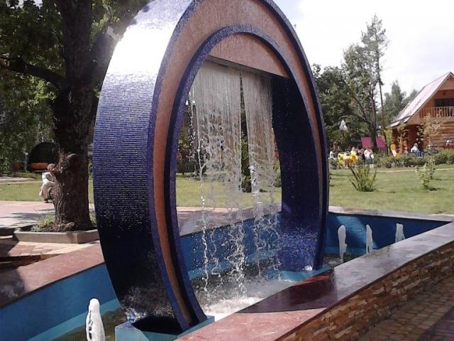 фонтан с полипропиленовой чашей