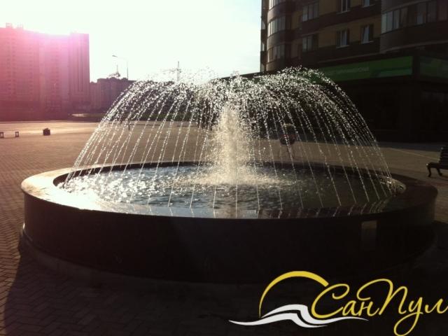 фонтан с чашей из полипропилена